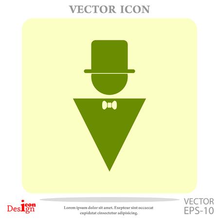 closet door: man vector icon