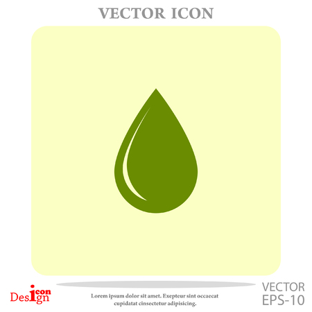 drop vector icon