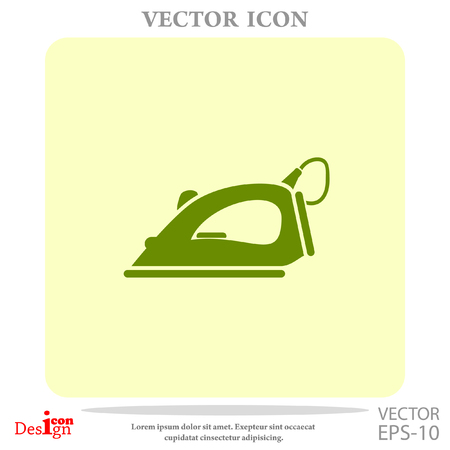 smoothing: steam iron vector icon