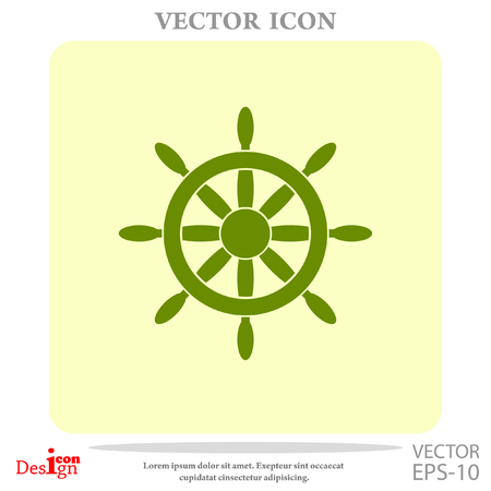 ruder: steering wheel vector icon