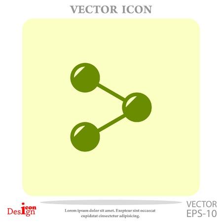 diagrama de arbol: share vector icon