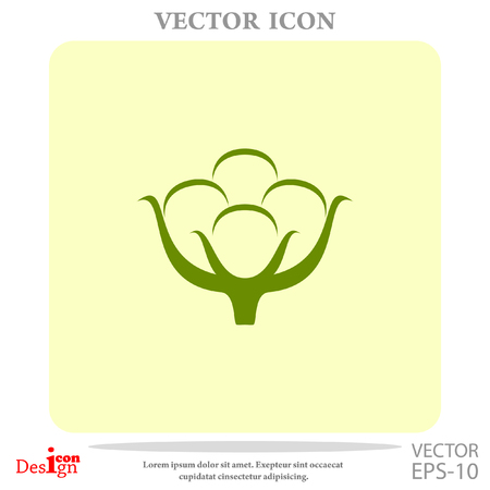 cotton bud: cotton vector icon