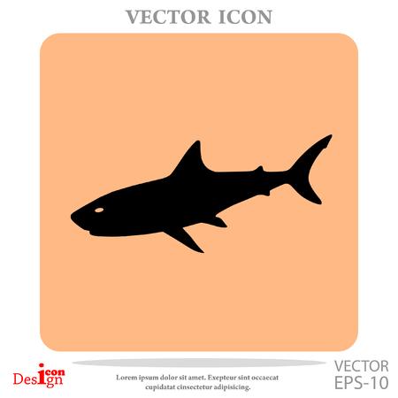 great danger: Shark vector icon