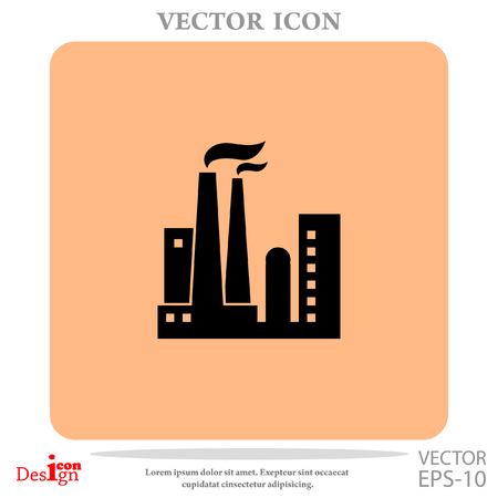 dangerous construction: Factory vector icon