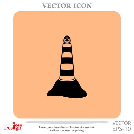 Beacon vector icon Illustration