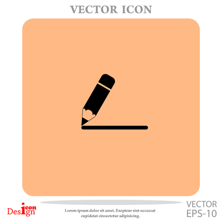 yellow notepad: Note vector icon Illustration