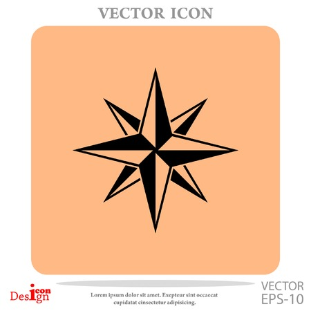 latitude: Compass vector icon Illustration