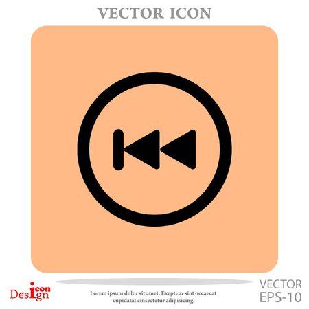 Backward button vector icon