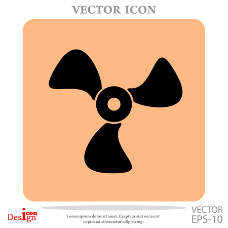 airflow: Cooler vector icon Illustration