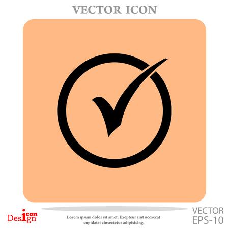 Check box vector icon Illustration