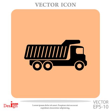 dump truck vector icon