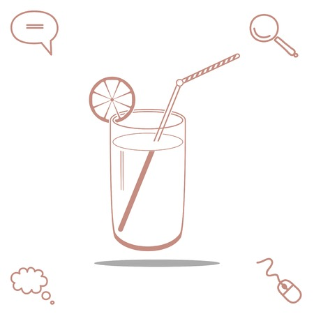 coldly: citrus drink vector icon