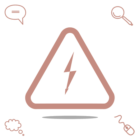 hazard: danger vector icon Illustration