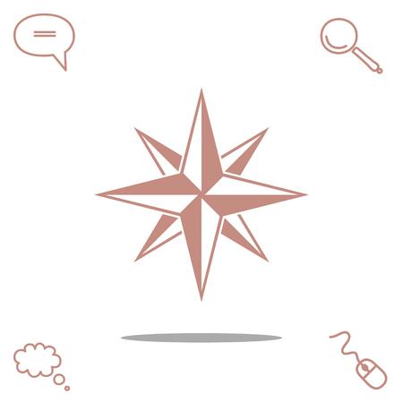 compass rose: Compass vector icon, vector illustration. Illustration