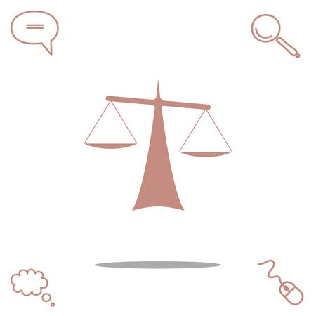 justice scale: Justice vector icon