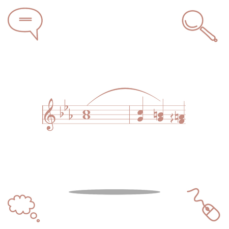 autograph: music vector icon Illustration
