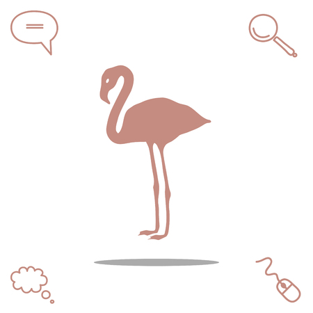 Flamingo Outline Stock Photos Royalty Free Flamingo Outline Images