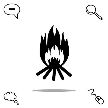 fiery: Bonfire vector icon
