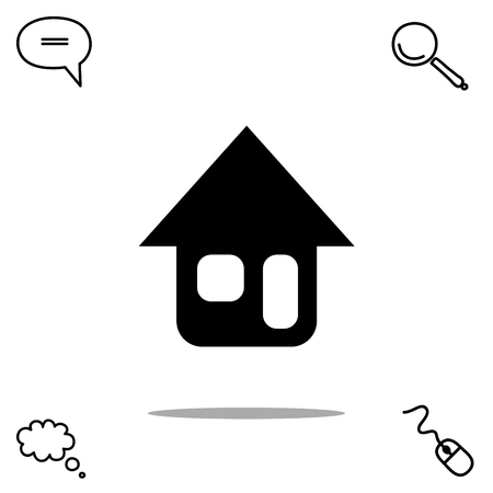 isolate: home vector icon