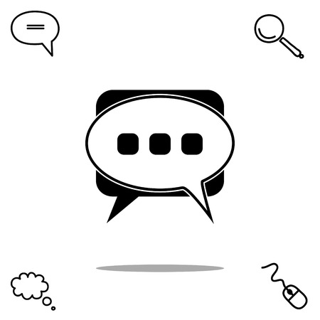 communicate  isolated: messages vector icon