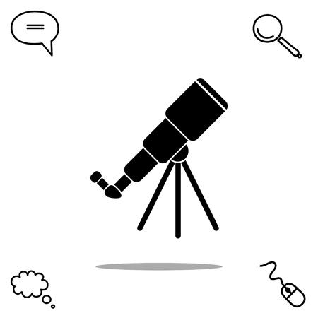 finding: telescope vector icon