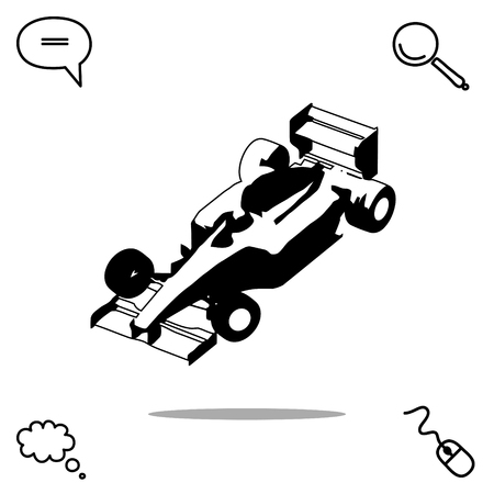 speedway: Sport car vector icon Illustration