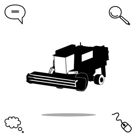 A combine vector icon Stock fotó - 80103630