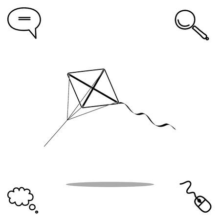 pastime: kite vector icon