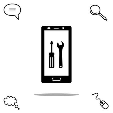 configure: repair smartphone vector icon
