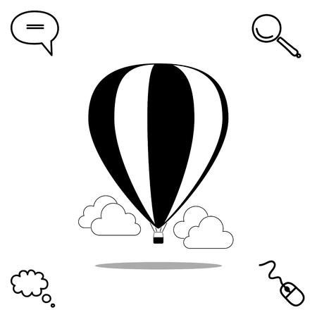 float fun: air balloon vector icon