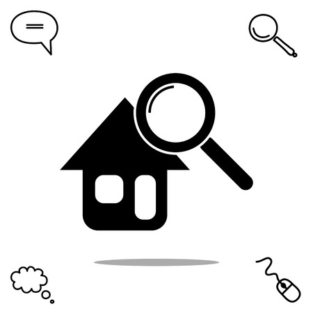 finding: searching for house vector icon Illustration