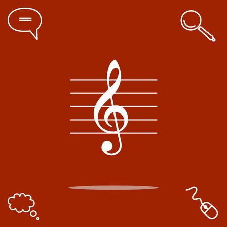 Music key vector icon
