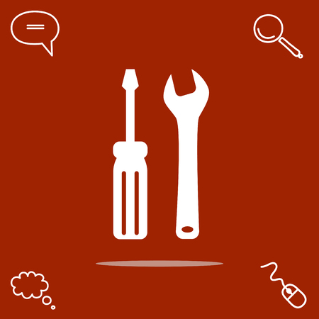 toolkit: tools vector icon Illustration