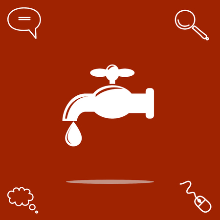 Faucet vector icon illustration.