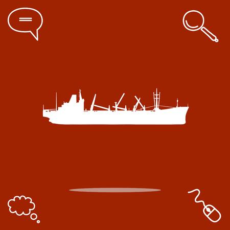 Ship vector icon illustration.
