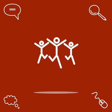 partnership security: Success team vector icon
