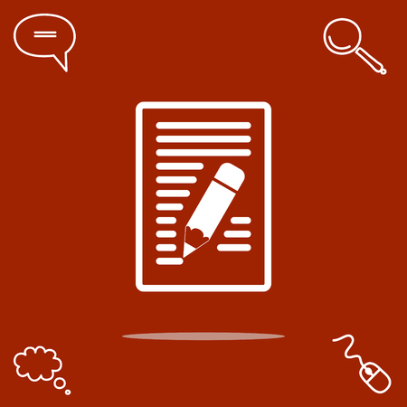 yellow notepad: notes vector icon Illustration