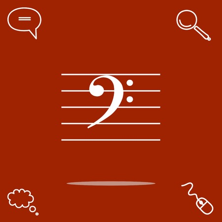 basse clé de musique vecteur icône Vecteurs
