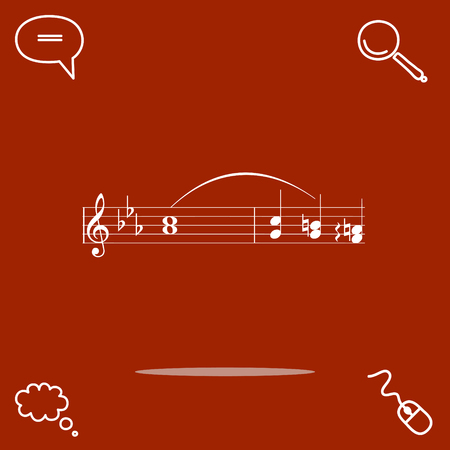 quaver: Music vector icon illustration.