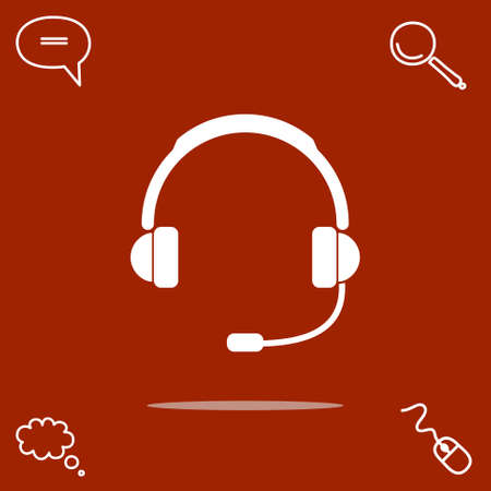 telemarketer: Support vector icon illustration.