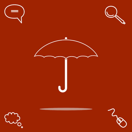 safe water: Umbrella vector icon illustration.