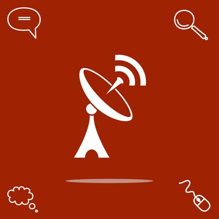 Antenna vector icon illustration.