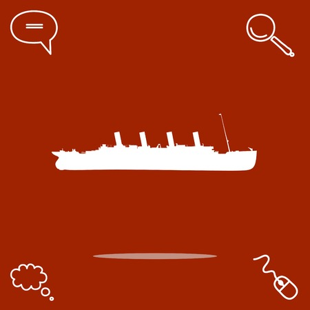marine industry: Ship vector icon illustration.
