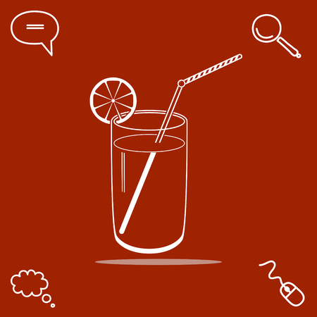 Cocktail vector icon illustration.