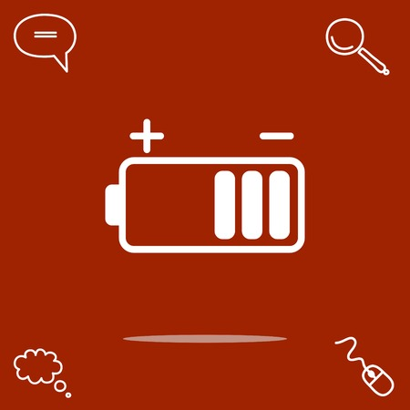 Battery vector icon illustration. Illustration