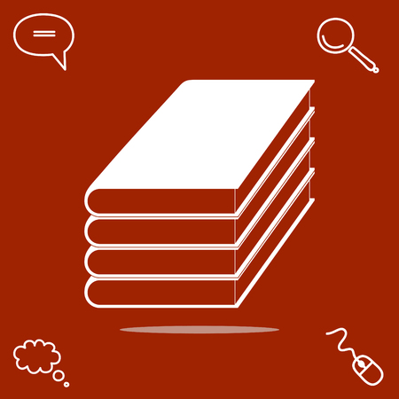 writer: Books vector icon illustration. Illustration