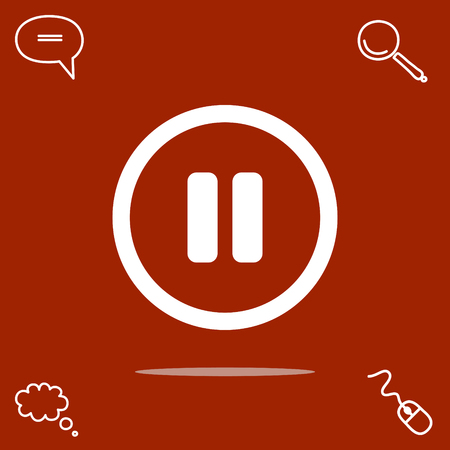 pause button vector icon Illustration