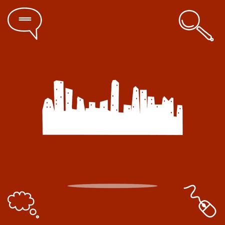 midtown: city vector icon
