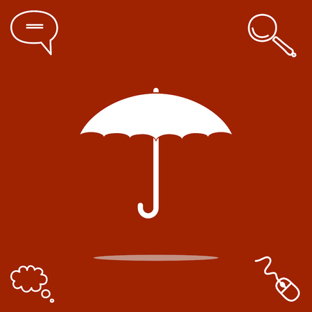 safe water: umbrella vector icon Illustration