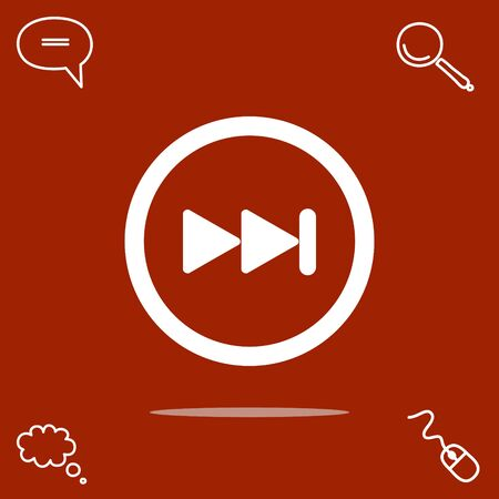 rewind: A next button vector icon. Illustration